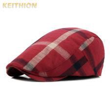 659283b98bbc7 Plaid Men Women Duckbill Ivy Cap Golf Driving Sun Flat Cabbie Newsboy Beret  Hat