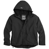 SURPLUS WARM HOODED WINDBREAKER MENS WINDPROOF ZIP JACKET + FLEECE BLACK S-4XL