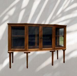 Vintage Retro Glazed Display Shop Cabinet Bookcase China Cupboard