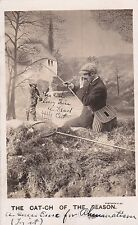 """Rp: Fisherman catches a dead cat, """"The Cat-Ch of the Season"""" , Pu-1906"""