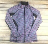 Ideology Womens Size Small Athletic Active Jacket with thumb holes Pink Purple