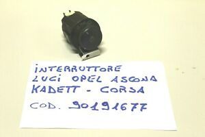 OPEL CORSA-ASCONA-KADETT INTERRUTTORE LUCI COD. 90191677