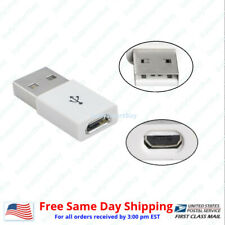 Micro USB female to USB male adapter (white)