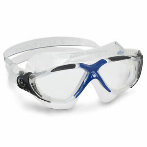 AQUA SPHERE VISTA Mens Swimming Goggles & Caps anti fog triathlon pool goggles