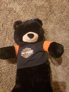 Build A Bear Harley Davidson Black/Orange Shirt