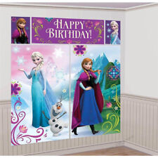 DISNEY FROZEN BIRTHDAY PARTY SCENE SETTER WALL DECORATION  POSTER KIT ANNA ELSA