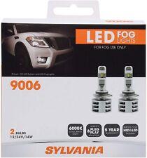 NEW SYLVANIA 9006 LED Fog Lights Bright White LED Light Output Headlight 2 Bulbs