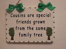Lovely Decorative Handcrafted Wooden Sign COUSINS ARE SPECIAL FRIENDS