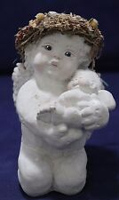 Large Cast Art Dreamsicle Cherub Kneeling holding baby Kristin 6""
