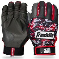 Franklin Sports MLB Baseball Digitek Batting Gloves Black/Red