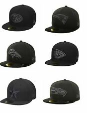 NWT New Era NFL Blacked Out Charcoal Gray Basic 59 FIFTY Fitted Hat Cap