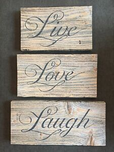 Live Laugh Love Home Décor Plaques Signs For Sale In Stock Ebay