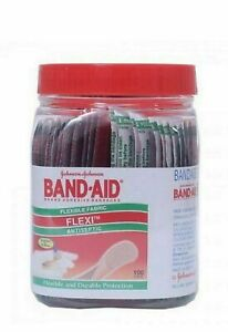 Johnson & Johnson BAND AID First aid Flexible Fabric Bandage 100+30 Strips Free
