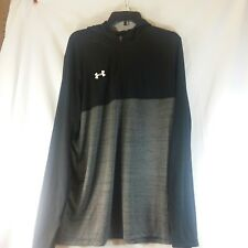 Under Armer Extra Large XL Black Grey Sweatshirt NEW