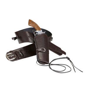 Pistolenhalfter braun Sheriff Westerngürtel Pistolenholster Cowboy Gürtel Colt