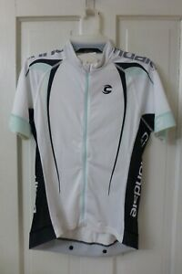 MEDIUM Women's CANNONDALE White Green Black Performance FULL-ZIP Cycling Jersey