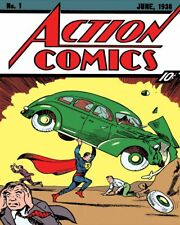 Action Comics Superman Rétro Plaque Métal/signe, pub, bar, Man Cave,