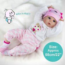 Lifelike Newborn Babies Silicone Vinyl Reborn Baby Dolls Handmade Gift