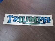 Vintage Triumph Motorcycle Blue Green Yellow & Aqua Sticker AHRMA #2