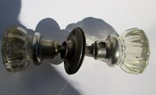 Antique Victorian 12 Point Crystal Glass Door Knobs Architectural