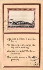 Rppc Centerville Sd Business Street Scene South Dakota Vintage Postcard 1913