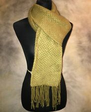 Anne Klein Scarf NWT 100% Cashmere Knitted Neck Scarf Ladies Olive Green $250