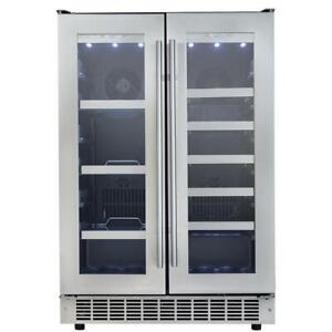 "Danby Silhouette DBC047D3BSSPR 24"" French Door Freestanding Beverage Center"