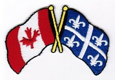 Canada / Quebec Flag Patch Embroidered Iron On / Sew On Applique