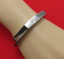 Vintage 887 Sterling Silver Bracelet Bangle Cuff Hinged Modernist 846g