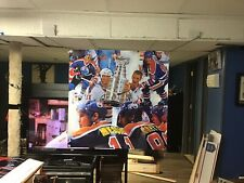 HUGE! 36x36. Wayne Gretzky vinyl banner POSTER MARK MESSIER art Edmonton Oilers.
