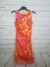 C4 Women's/Juniors Giorgio Fiorlini Orange/Pink Sheer Overlay Dress