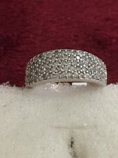 Sterling Silver Anniversary Diamond Band Size 7
