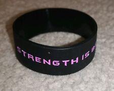 Spartan Women. Strength is Beauty. Black and pink. Bracelet.