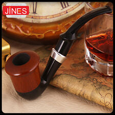 High-grade Smoking Tobacco Pipes Curved Type Wooden Fashion Gift Easy To Clean