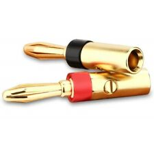 Bananenstecker von Nakamichi Kabelschuhe vergoldet 24K Kabel Hifi HIGH END 6mm²