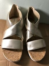 Adrienne Vittadini Claud Rose Gold Sandals Size 9 Womens Platform Metallic