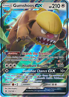 Gumshoos GX Ultra Holo Rare Pokemon Card SM1 Sun & Moon 110/149
