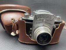 IHAGEE DRESDEN SLR Camera EXA w/ E. LUDWIG PERONAR 50mm f/2.9 + Original Case