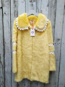 Shrimps Yellow Lace Trimmed Coat Size: 6 / Was Selling At Yoox & Farfetch