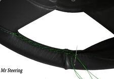 Per FIAT PANDA MK1 1980-2000 Vera Pelle Volante Copertura cuciture verdi NUOVI