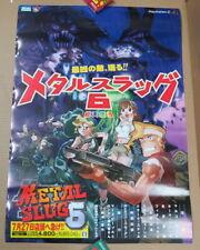 Cool Metal Slug 6 Poster SNK Playmore Neo-Geo AES PS2 CD X MVS * Brand NEW