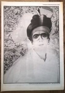 MARC ALMOND 'masked' 1985 Vintage Newspaper POSTER size: 16x12 inches