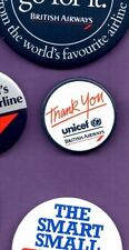 British Airways - Unicef -Thank You  - Button Badge 1990's