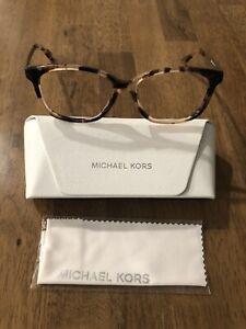 Michael Kors MK4035 Ambrosine 3205 Pink Tortoise Eyeglasses Frame 53[]15 135 NEW