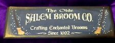 hp wood sign-The Olde Salem Broom Co. Crafting Enchanted Brooms Since 1692