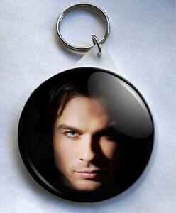 Damon Salvatore Vampire Diaries 58mm Keyring Damon Salvatore
