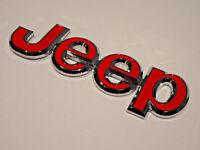 Metall Jeep Chrom Abzeichen hinten Kofferraum Heck Fronthaube Aufkleber Emblem