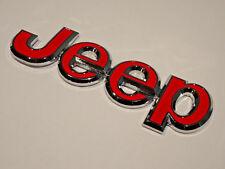 Metal Jeep Chrome Badge Rear Boot Tailgate Front Bonnet Sticker Emblem Decal Red