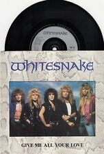 """WHITESNAKE GIVE ME ALL YOUR LOVE EDIT /FOOL FOR YOUR LOVING 1987 RECORD UK 7"""" PS"""