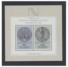 Iceland - 1983, Nordic Stamp Exhibition sheet - MNH - SG MS636